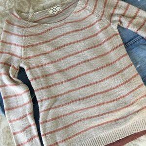Pull over Sweater Size Medium Rust/Orange Stripe
